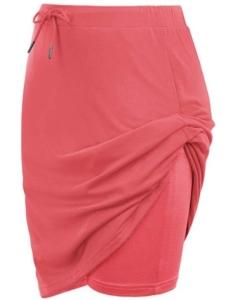 JACK SMITH Women's Athletic Skort Drawstring Waist Stretchy Knitting Skirts with Pockets